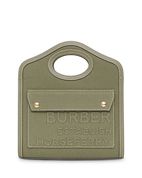 Burberry - Medium Pocket Canvas Shoulder Bag