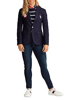 Polo Ralph Lauren - Team USA Opening Ceremony Slim Fit Blazer, Jersey Tee & Skinny Jeans in Indigo Blue