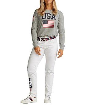 Polo Ralph Lauren - Team USA Long Sleeve Knit Tee & Tompkins Super-Skinny Jeans