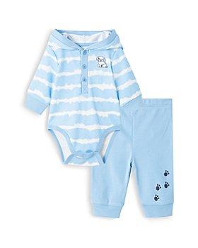 Little Me - Boys' Cotton Puppy Bodysuit & Pants Set - Baby