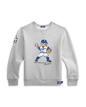 Ralph Lauren - Boys' Los Angeles Dodgers Polo Bear Sweatshirt - Little Kid, Big Kid