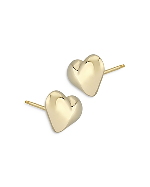 Bloomingdale's Large Puffed Heart Studs in 14K Yellow Gold - 100% Exclusive