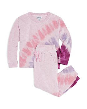 Splendid - Girls' Sunburst Sweatshirt & Jogger Pants Set - Little Kid