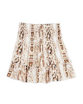 AQUA - Girls' Faux Snakeskin Smocked Skirt, Big Kid - 100% Exclusive