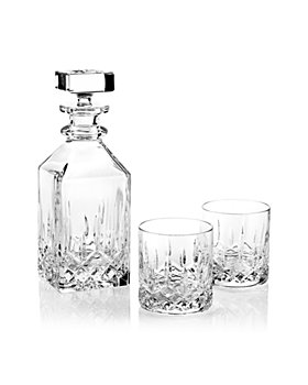 Waterford - Lismore 3-Piece Connoisseur Square Decanter and Tumbler Set