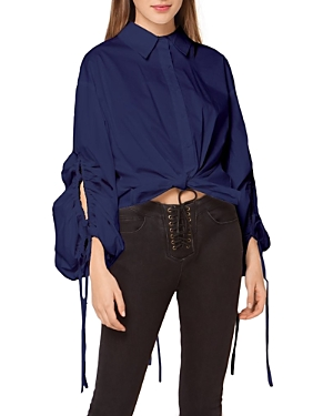 Shirred Loose Button Down Blouse (30% off) Comparable value $85.50