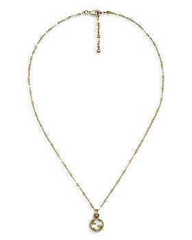 "Gucci - 18K Yellow Gold Interlocking G Pendant Necklace, 15-16.5"""