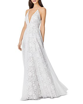Aidan by Aidan Mattox - Embroidered Mesh Gown - 100% Exclusive