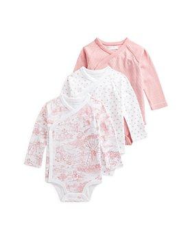 Ralph Lauren - Girls' Wrap Cotton Bodysuit, 3 Pack - Baby