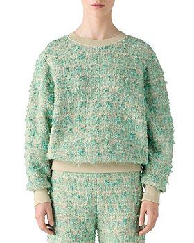 St. John - Contrast Trim Tweed Sweater