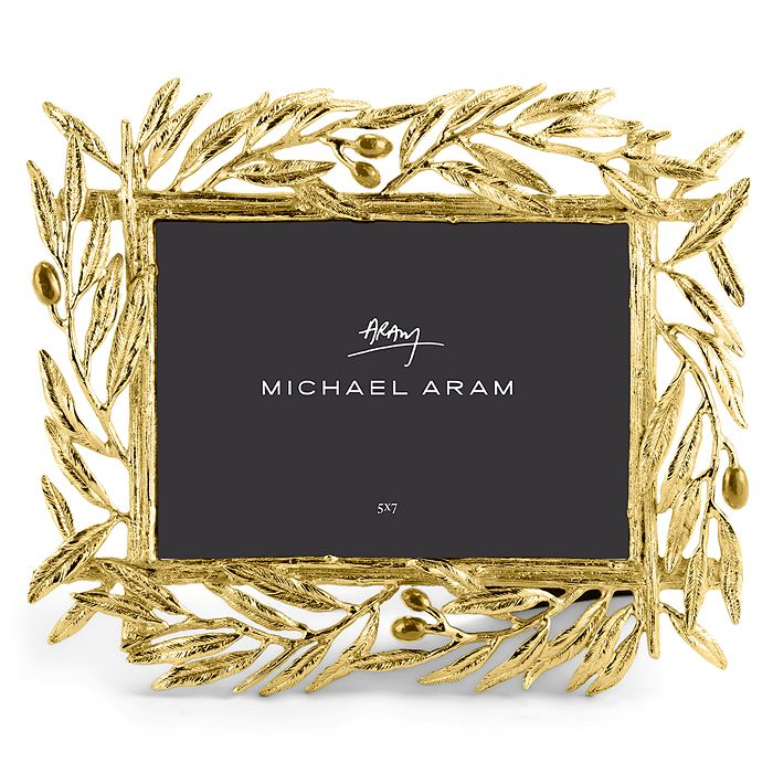 """Michael Aram - Olive Branch Picture Frame, 5"""" x 7"""""""