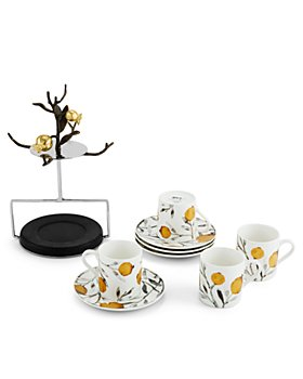Michael Aram - Pomegranate Demitasse Cup & Saucer Set with Stand