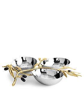 Michael Aram - Olive Branch Triple Dish