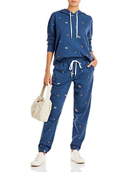 PJ Salvage - Ditsy Days Floral Embroidered Hoodie & Jogger Pant