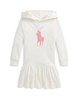 Ralph Lauren - Girls' Hooded Big Pony Knit Dress - Little Kid