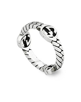 Gucci - Sterling Silver Interlocking G Skinny Statement Ring