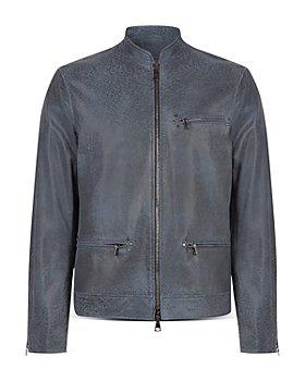 John Varvatos Collection - Leather Zip Front Jacket