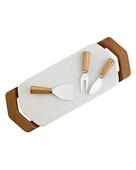Nambé - Chevron Cheese Tray with Knives