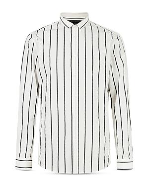 Stripe Slim Fit Button Down Shirt