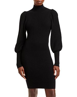 Caleb Puff Sleeve Bodycon Sweater Dress