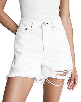 rag & bone - Maya Cotton Cutoff Denim Shorts in Summer White
