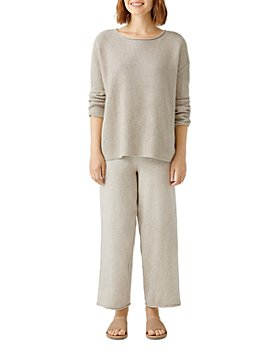 Eileen Fisher Petites - Wide Leg Cropped Pants