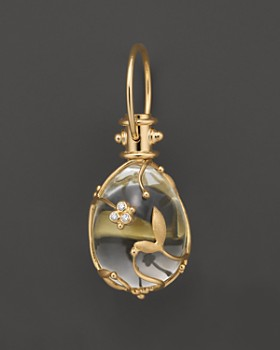 Temple St. Clair - Crystal And Diamond Vine Pendant Set in 18 K Yellow Gold