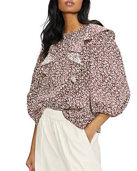Ted Baker - Frill Detail Balloon Sleeve Top