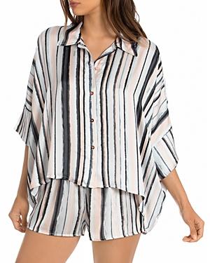Striped Pajama Short Set