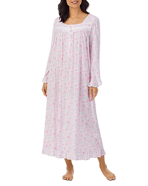 Long Sleeved Floral Print Ballet Nightgown