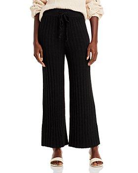 AQUA - Ribbed Knit Drawstring Pants - 100% Exclusive