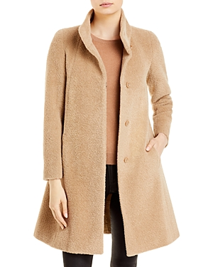 Stand Collar Mid Length Coat