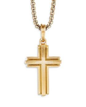 David Yurman - Deco Cross Pendant in 18K Yellow Gold