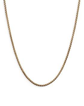 "David Yurman - 18K Yellow Gold Box Link Chain Necklace, 24"""
