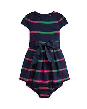 Ralph Lauren - Girls' Striped Fit And Flare Cotton Dress - Baby