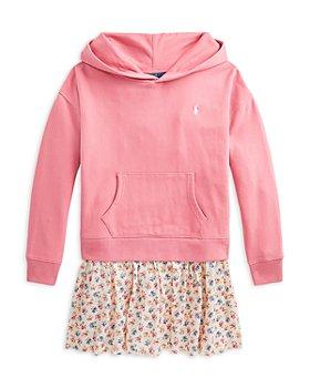Ralph Lauren - Girls' Fleece Hoodie Dress - Little Kid, Big Kid