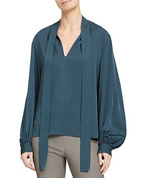 Theory - Silk Blouson Sleeve Top