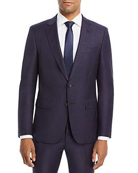 BOSS - Huge/Genius Textured Solid Slim Fit Suit