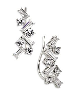 Nadri Tezoro Cubic Zirconia Cluster Climber Earrings