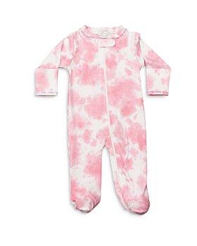 Noomie - Girls' Bubble Gum Tie Dye Print Footie - Baby