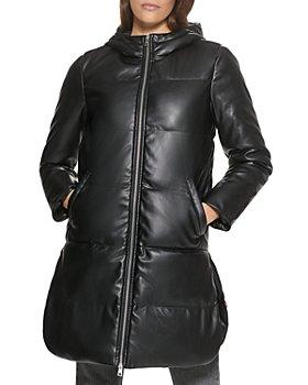 Levi's - Faux Leather Puffer Coat