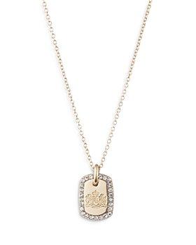 "Ralph Lauren - Crystal Card Pendant Necklace, 19"""
