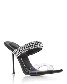 Alexander Wang - Women's Julie Embellished High Heel Slide Sandals