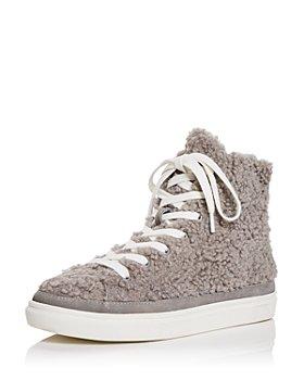 AQUA - Women's Teddy High Top Sneakers - 100% Exclusive