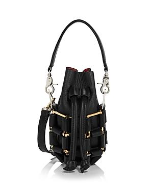 Micro Leather Grenade Bag