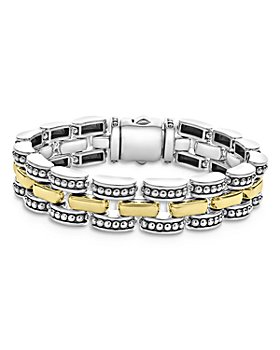 LAGOS - 18K Yellow Gold & Sterling Silver High Bar Link Bracelet
