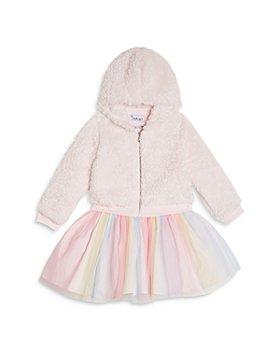 Pippa & Julie - Girls' Fleece Hooded Jacket & Tutu Dress Set - Little Kid