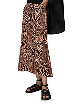Whistles - Patchwork Animal Print Midi Skirt