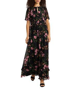 KARL LAGERFELD PARIS - Floral Chiffon Maxi Dress