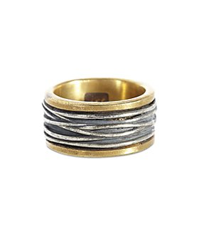 John Varvatos Collection - Men's Sterling Silver & Brass Woven Statement Ring